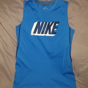 Nike dry-fit workout sleeveless shirt for boys.